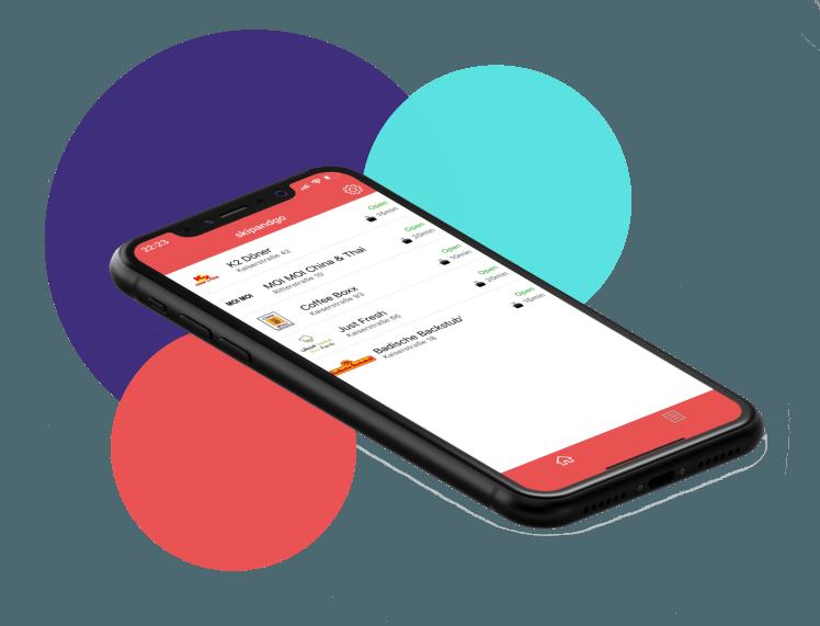 Bestell App skipandgo zum Essen bestellen in Kalrsruhe